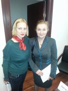 Prof.dr. Doina Plesca si Alexandra Manaila la lansarea AREPMF